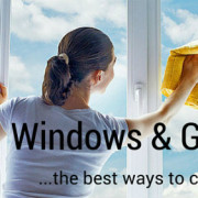 Window cleaning on the outside window grille - Best way to clean windows ...