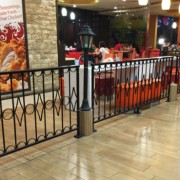 Indoor Wrought Iron Fence in a mall