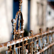 Rust can damage a fence if not maintained properly