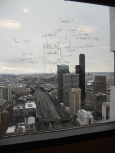 Glass Window Whiteboard