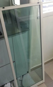 Sea Green Glass for Sliding Window