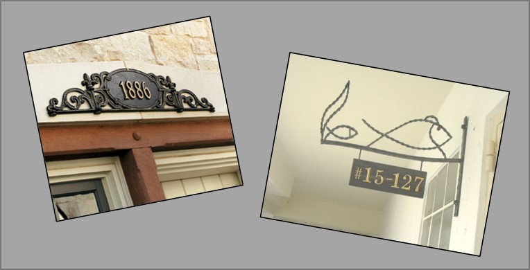 Decorative Name Plates For Home: Wrought Iron Name Plates And House Numbers
